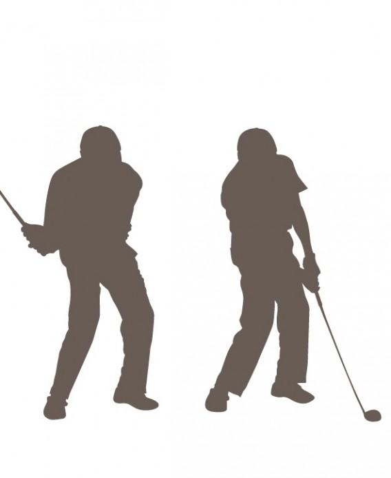 ゴルフ 左骨盤