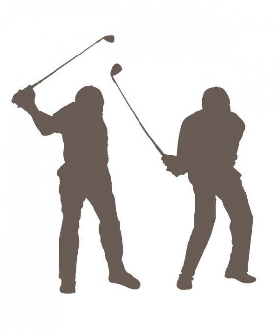 ゴルフ 右骨盤タメ